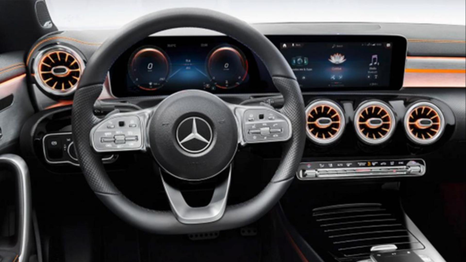 Interiér Mercedesu CLA